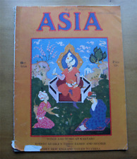 Antique ASIA Magazine~October 1924~art deco cover by A Avinoff~Japan~Tahiti-NR