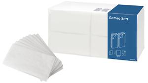 Premium Prägeservietten Papier Servietten weiß 33x33cm 1/8 Falz 1lagig Serviette