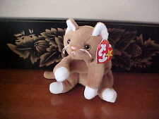 Nip the Cat with socks on its feet - TY Beanie Baby  **Mint Condition**