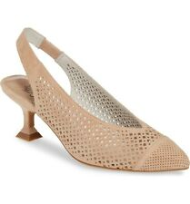 JEFFREY CAMPBELL Bianca Slingback Pump Nude Perf Suede 7.5 - 8 M