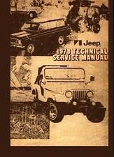1978 Jeep CJ Truck Mechanic Workshop Service Repair Manual CD Factory OEM Guide