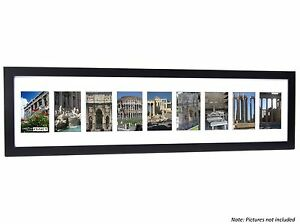 CPF - 9 Opening Glass Face Black Picture Frame to Hold 4x6 Photos