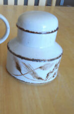 Stonehenge Midwinter WILD OATS Sugar Bowl with Lid Brown