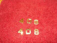 DODGE PLYMOUTH 408 STROKER ENGINE ID FENDER HOOD SCOOP QUARTER EMBLEMS - GOLD