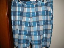 MEN'S QUIKSILVER AMPHIBIANS BLUE PLAID HIKING WATER SHORTS SZ 32 or 36