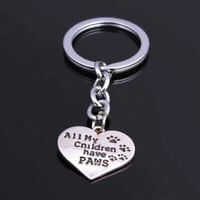 All My Children Have Paws Keyring Gift Dog Lover Pet Owner Dachshund Collie