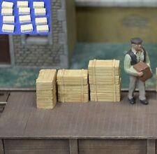 Wood Crates 12pcs O, On3, S, 1/48 1/35 #O010 plaster Produits MP diorama caisse
