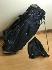 Hot Z Lightweight 7 Divider Stand Golf Bag Dual Strap Blue & Gray New
