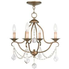 Livex Lighting Chesterfield Mini Chandelier in Antique Gold Leaf - 6424-48