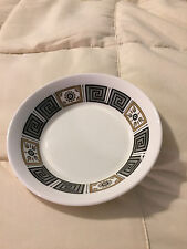 VINTAGE ENGLAND WEDGWOOD BONE CHINA ASIA R4288 BLACK GOLD ACCENT SMALL BOWL!