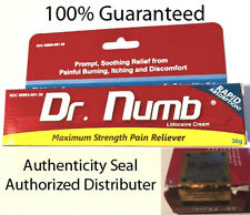Dr Numb 5% Lidocaine Cream 30G  Skin Numbing Tattoo, Waxing  Piercing Exp. 5/20