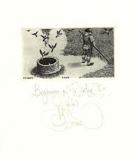 Konstantin Kalinovich, Kalynovych free etching, no exlibris