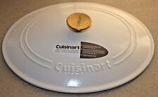 NEW LID ONLY! For Cuisinart Oval Casserole Matte Snow White 7 Qt Cast Iron