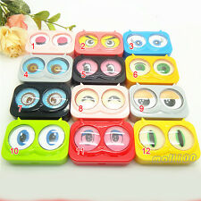 1pc Cute Owl Big Eyes Multicolor Contact Lens Case Container Box Eye Care Vision