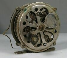 Early Fly Fishing Reel Light Weight Carlton Mfg. Co. Rochester NY Antique Tackle