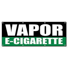 VAPOR E-CIGARETTE Promotion Business Sign Banner 3' x 6' w/ 6 Grommets