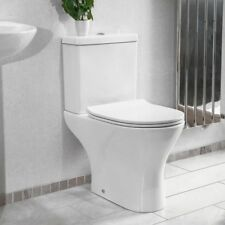 Modern Ceramic Round Short Projection Compact Close Coupled Toilet Soft Closing
