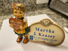 "Goebel Hummel ""Valentine Gift Plaque 20 year Club"" #717 Tmk7 with box used"