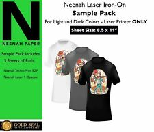 Sample Pack Neenah Laser Iron On Heat Transfer Paper For Light And Dark 85x11