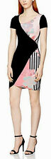 Versace Jeans women's stripes and flower dress size 44EU (12UK)-Made in Italy