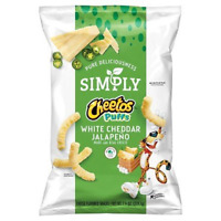 Cheetos Simply Cheese Puffs White cheddar Jalapeno 7.75 oz (2 Bag)