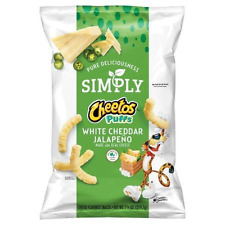 Cheetos Simply Cheese Puffs White cheddar Jalapeno 7.75 oz (3 Bag)