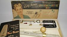 The Betty Furness Westinghouse THERMOMETER SET vintage in original box 3 pc USA