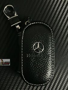 Mercedes Benz & AMG Leather Key Case Key Fob Holder Australia Stock 🇦🇺