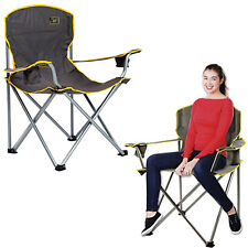 Heavy Duty Chair Sturdy Oversized Camping Portable Folding Lawn Patio 500 Lbs