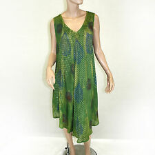 NEW NWT Pam's Collection Advance Apparels Sundress Green Jaipur Dress O/S XL 1X