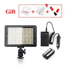 204PCS LED Video Light Kit 5500k On-Camera Light For Nikon DSLR +NP-F550 Battery