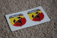 Fiat Abarth Scorpion Logo Car Motorbike Racing Decal Sticker Red Yellow 100mm