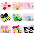 0-12 Month Cartoon Newborn Baby Girl Boy Anti-Slip Socks Slipper Shoes Boots