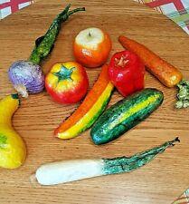 Papier Mache Fake Veggies Vegetables Lightweight Life Size Painted Table Decor