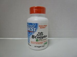 Doctor's Best Fully Active B Complex 30 Veggie Caps Exp 6/22+ IH3 9117