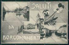 Novara Borgomanero Saluti da cartolina QQ5217