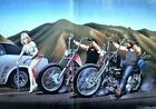 motorhead, biker life, david mann art 02 Wall Decor Poster , no Framed