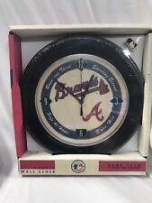 "Atlanta Braves MLB 11"" Quartz Wall Clock Spartus 1994 Baseball Mancave Fan Decor"