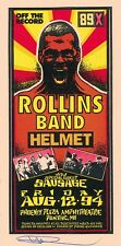Mint & Signed Rollins Band Helmet 1994 Pontiac Arminski Handbill