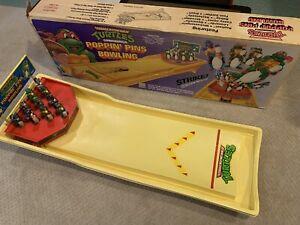 Vintage Remco ORIGINAL BOX 1990 Teenage Mutant Ninja Turtles Poppin' Pin Bowling