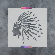 Native American Indian Stencil - Durable & Reusable Mylar Stencils