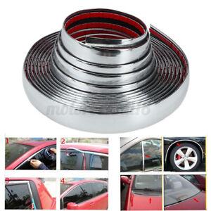 "1"" 1 inch Wide Chrome Molding Trim Auto Truck Body Door Side Tailgate Strip 197"""