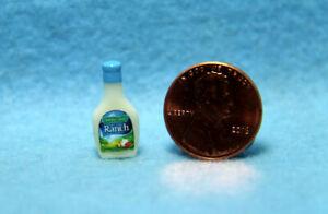Dollhouse Miniature Replica Bottle of Ranch Salad Dressing  HR54275