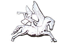 Airborne Pegasus Lapel Regimental Military Badge