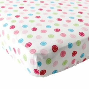 Luvable Friends Girl Fitted Pack and Play Sheet, Pink Geometric