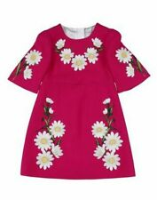 NWT Dolce & Gabbana Floral Print Wool Dress Size 9/10IT