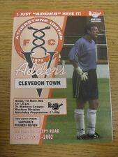 11/03/2002 Atherstone United v Clevedon Town. aucun défauts avec cet objet Hav