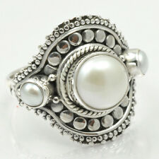 Pearl 925 Sterling Silver Ring Allison Co Size-6.5 SR-35422