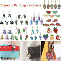 5X DIY Full Drill Special Shape Diamond Painting Key Rings Keychain Cross Stitch