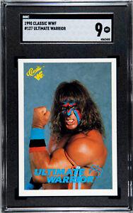1990 CLASSIC WWF #127 THE ULTIMATE WARRIOR SGC 9.0 MT #4562400